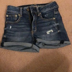 American Eagle Ripped High Waisted Shorts